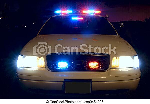 自動車, 警察, ライト - csp0451095