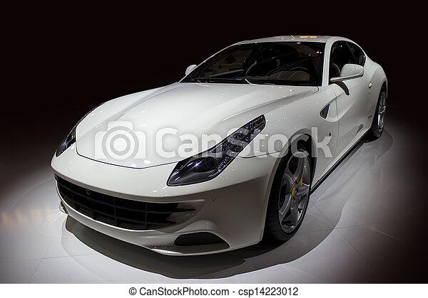 自動車, 贅沢, スポーツ, 白 - csp14223012