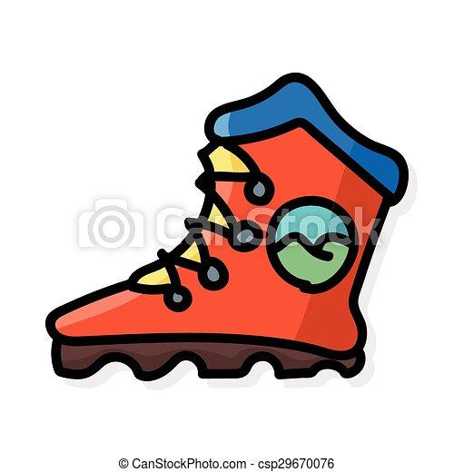 色, いたずら書き, スケート, ローラー - csp29670076