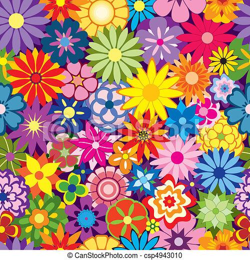 花, カラフルである, 背景 - csp4943010
