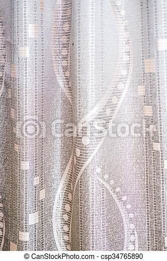 花, カーテン, 絹, 背景 パターン - csp34765890