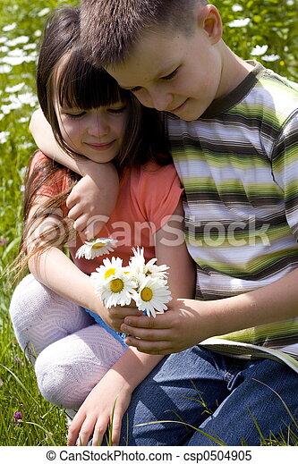 花, 子供 - csp0504905