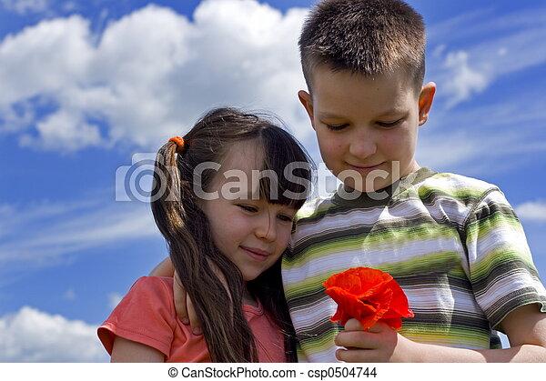 花, 子供 - csp0504744
