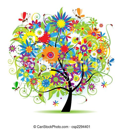 花, 美しい, 木 - csp2294401