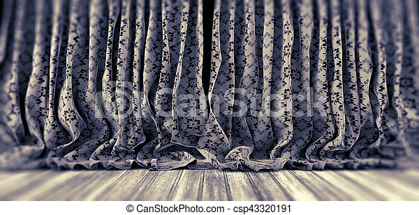 花, curtains., 生地 - csp43320191
