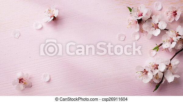 芸術, 春, 背景, フレーム, 花 - csp26911604
