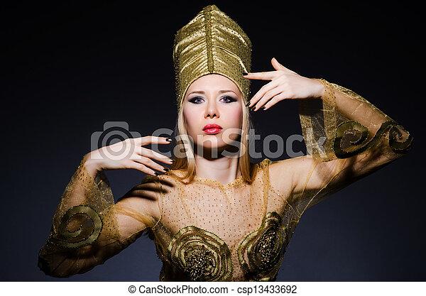 若い, モデル, 擬人化, 美しさ, エジプト人 - csp13433692