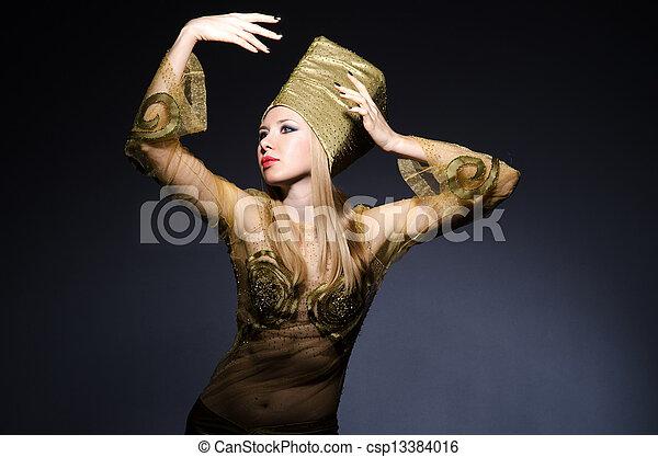 若い, モデル, 擬人化, 美しさ, エジプト人 - csp13384016