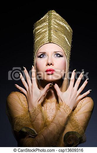 若い, モデル, 擬人化, 美しさ, エジプト人 - csp13609316