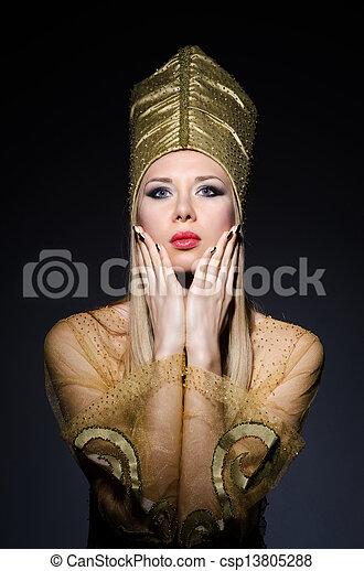 若い, モデル, 擬人化, 美しさ, エジプト人 - csp13805288