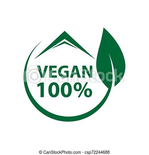 葉, 有機体である, ロゴ, タグ, ラベル, vegan, アイコン, エコロジー, 緑, bio - csp72244688