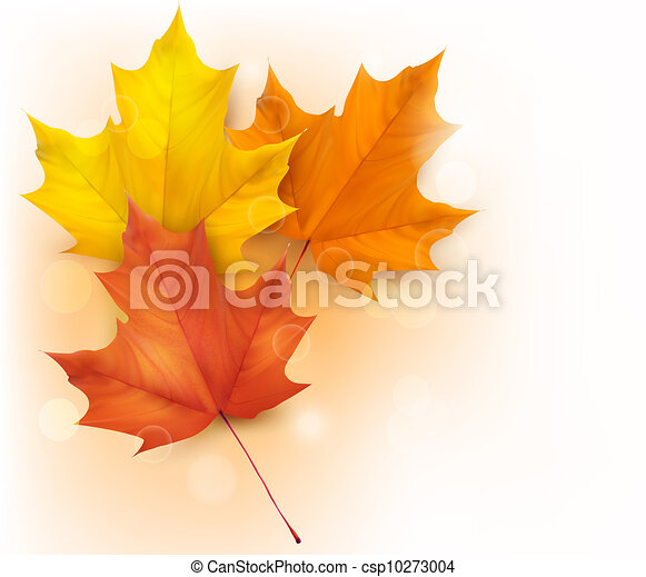 葉, 背景, 秋 - csp10273004