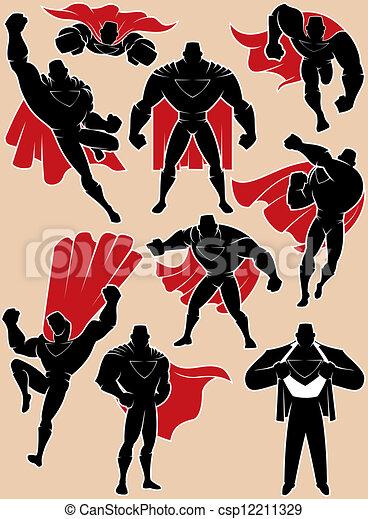 行動, superhero - csp12211329