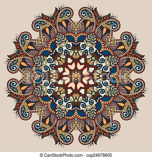 装飾用である, 霊歌, 花, ロータス, シンボル, indian, 円 - csp24978605