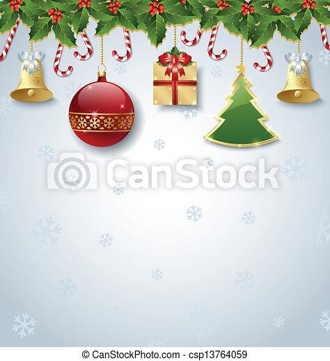 装飾, クリスマス - csp13764059