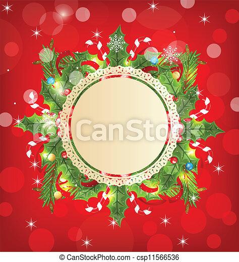 装飾, 休日, グリーティングカード, クリスマス - csp11566536