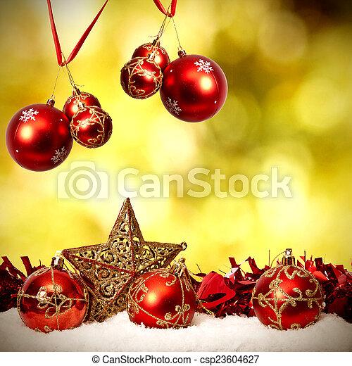 装飾, 資金, 伝統的である, クリスマス, ホリデー - csp23604627