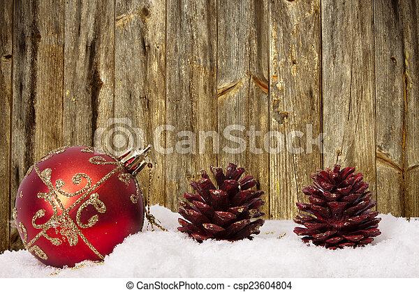 装飾, 資金, 伝統的である, クリスマス, ホリデー - csp23604804