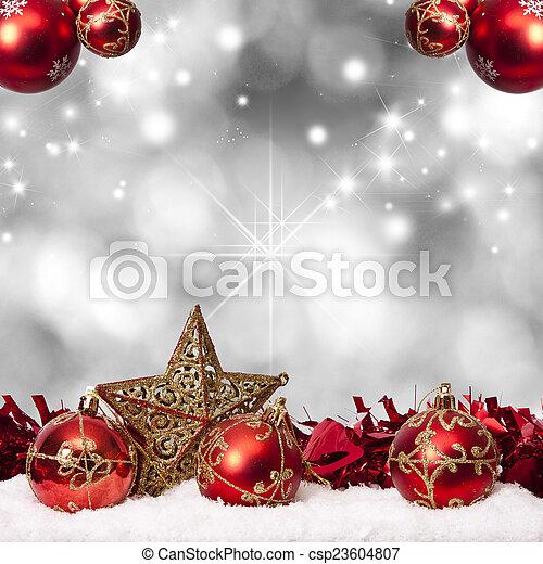 装飾, 資金, 伝統的である, クリスマス, ホリデー - csp23604807