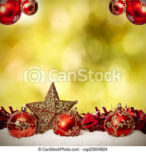 装飾, 資金, 伝統的である, クリスマス, ホリデー - csp23604824