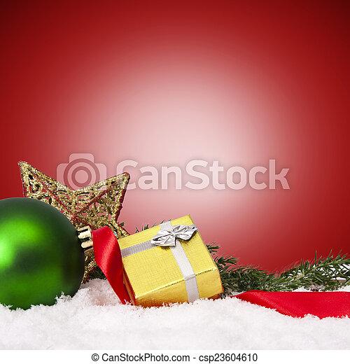 装飾, 資金, 伝統的である, クリスマス, ホリデー - csp23604610