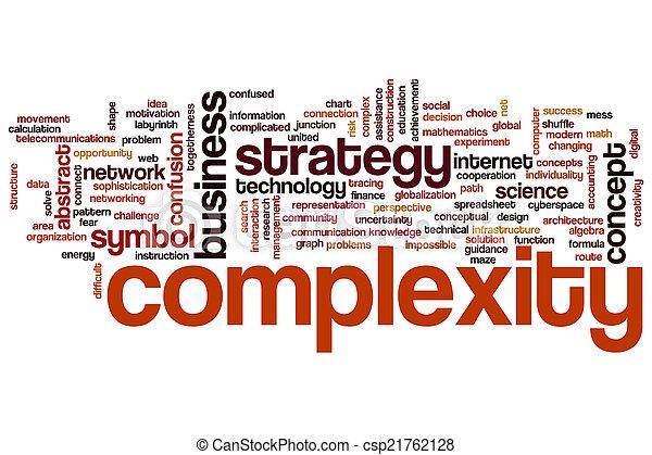 複雑さ, 単語, 雲. 複雑さ, 概念, 単語, 雲, 背景. | CanStock