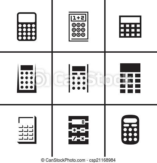 計算機, セット, アイコン - csp21168984