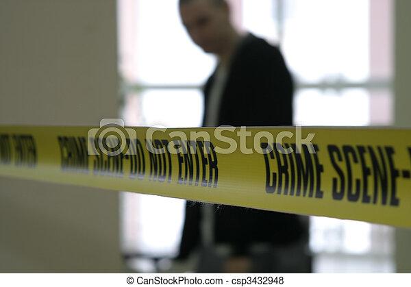 警察, 線, テープ, 現場, 犯罪 - csp3432948