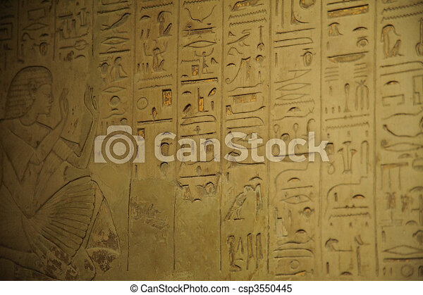 象形文字, エジプト人 - csp3550445