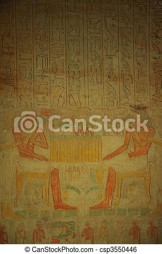象形文字, エジプト人 - csp3550446