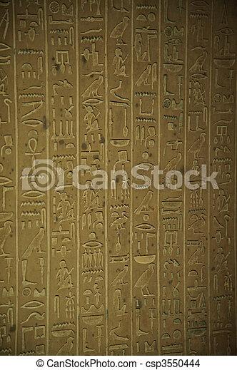 象形文字, エジプト人 - csp3550444