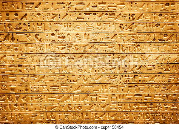 象形文字, エジプト人 - csp4158454