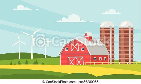 農場 建物, 田園, -, 納屋 - csp56280968