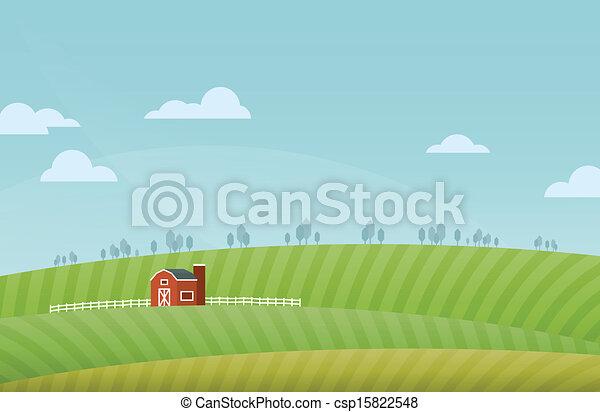 農場, 風景 - csp15822548