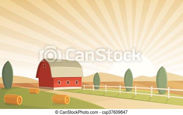農場, 風景 - csp37609847
