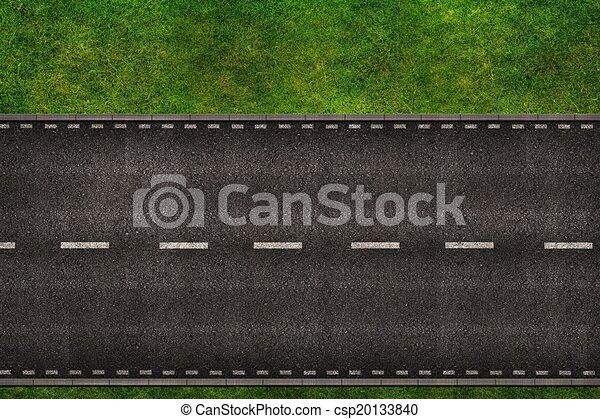 道, の上, イラスト - csp20133840