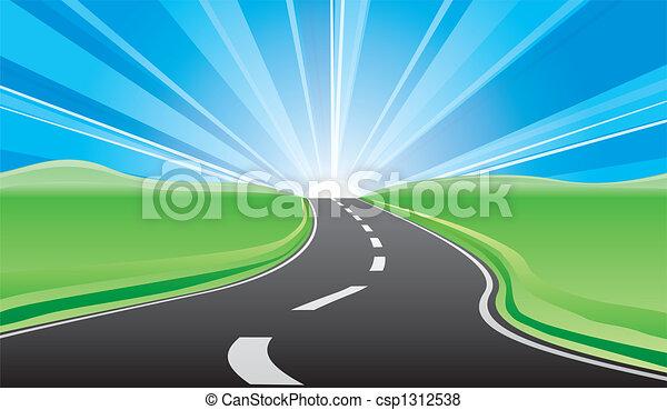 道, 日の出 - csp1312538