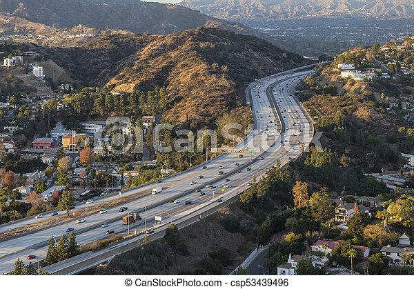 郡, 高速道路, アンジェルという名前の人たち, los, カリフォルニア, glendale - csp53439496