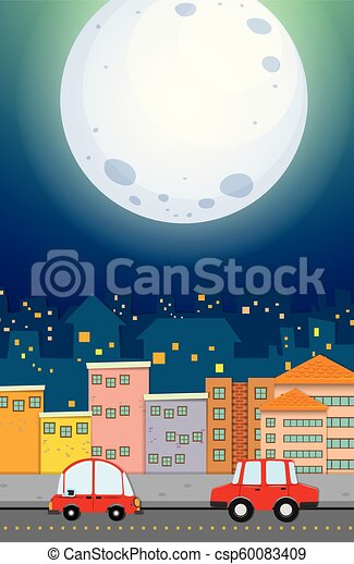 都市, 光景, 夜 - csp60083409
