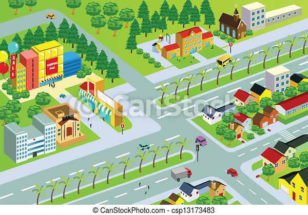 都市 地図 - csp13173483