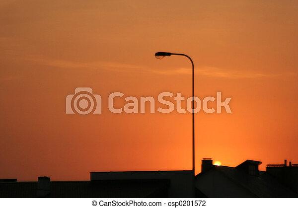 都市, 日没, 光景 - csp0201572
