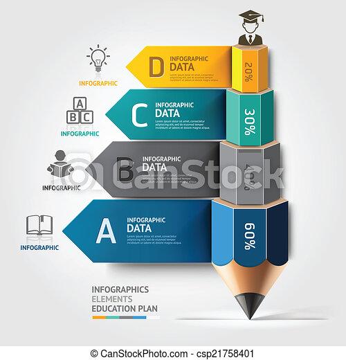 鉛筆, 教育, ビジネス, 階段 - csp21758401