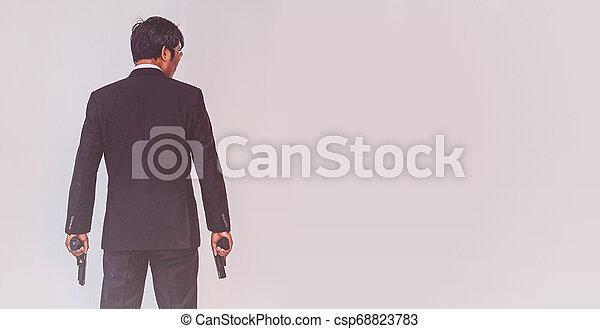 銃, 保有物, 人 - csp68823783