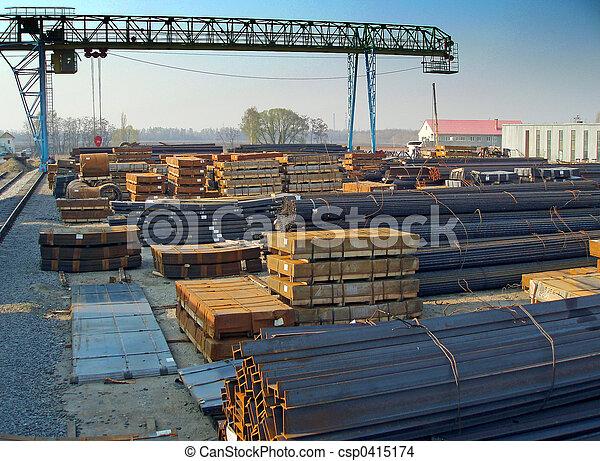 鋼鉄, プロダクト, 貯蔵 - csp0415174