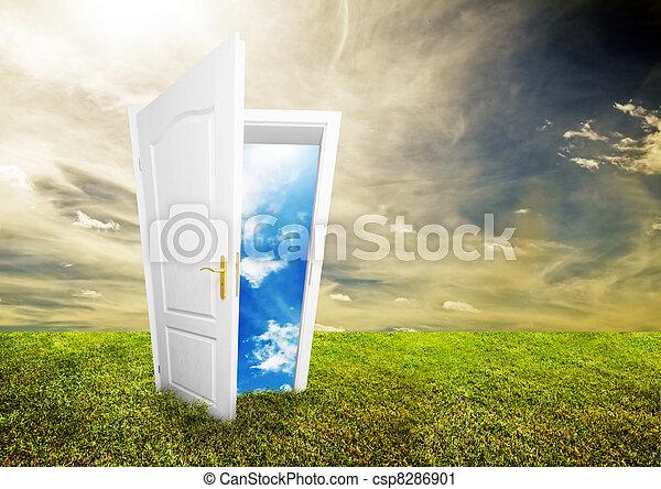 開いた, 生活, ドア, 新しい - csp8286901