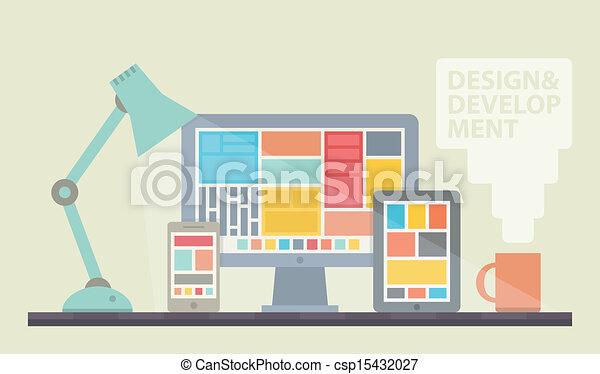 開発, 網の設計, イラスト - csp15432027
