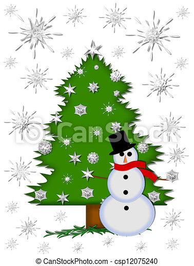 雪片, つかまえること, 落ちる - csp12075240