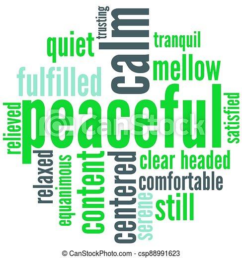 雲, 平和である, 単語 - csp88991623