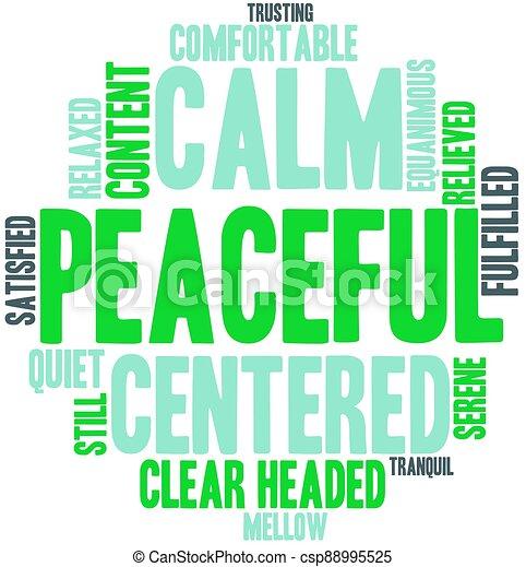 雲, 平和である, 単語 - csp88995525