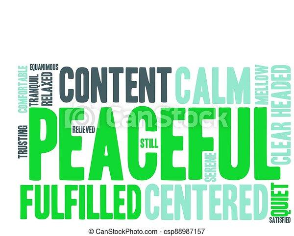 雲, 平和である, 単語 - csp88987157